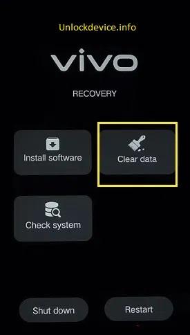 Vivo Hard Reset Clear data option